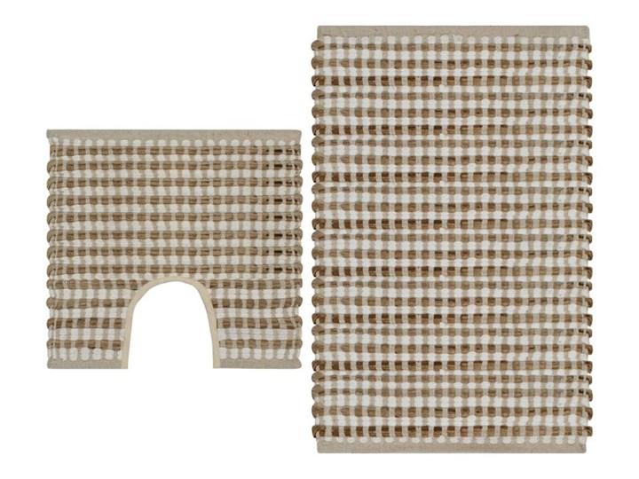 Zestaw ręcznie tkanych mat łazienkowych, juta, naturalny i biel kod: V-133219