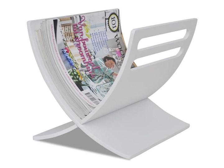 Drewniany stojak na gazety, biały kod: V-241219