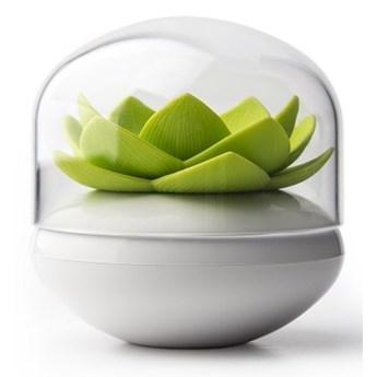 Pojemnik na patyczki do uszu Lotus biało-zielony 10157-WH-GN kod: QL10157-WH-GN