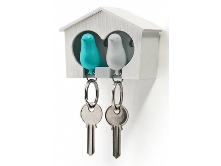 Wieszak na klucze Budka podwójna biało-niebieska 10124-WH-WH-BU kod: 10124-WH-WH-BU