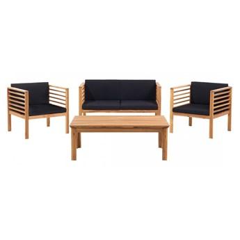 Meble ogrodowe brązowe - ogród - stół + 2 krzesła + ławka - Cirillo kod: 7081451222671