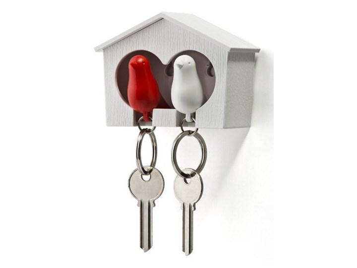 Wieszak na klucze Budka podwójna biało-czerwona 10124-WH-WH-RD kod: QL10124-WH-WH-RD