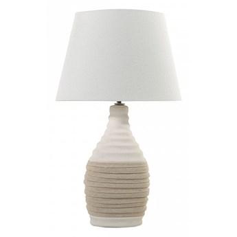 Nowoczesna lampka nocna - lampa stojąca - kremowa - Clemenzano kod: 7081455503882