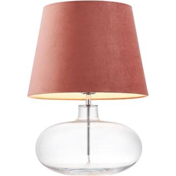 Lampa stołowa Sawa Velvet Różowa, Kaspa