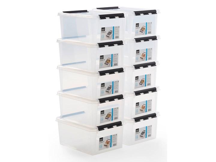 Pojemnik plastikowy LEE z pokrywą, 14L, 10 szt., 400x300x190 mm, przezroczyste Kategoria Pojemniki i puszki Tworzywo sztuczne Na żywność Kolor Przezroczysty