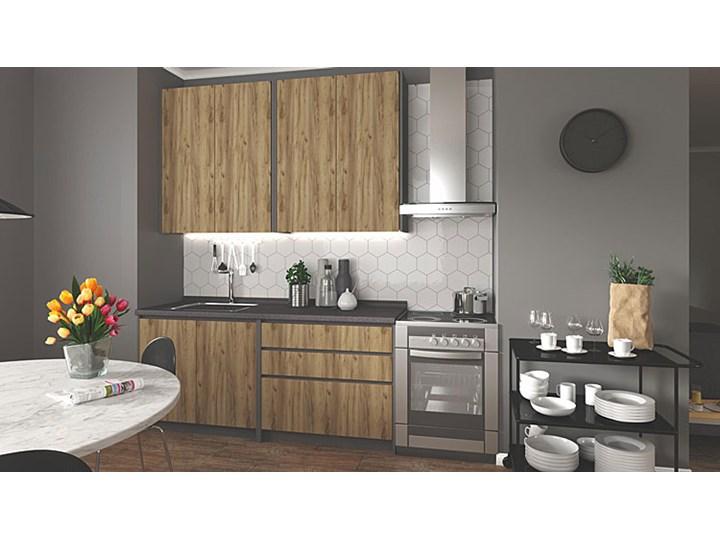 Zestaw mebli kuchennych Trida - dąb votan + antracyt Kategoria Zestawy mebli kuchennych Zestawy gotowe Kolor Brązowy