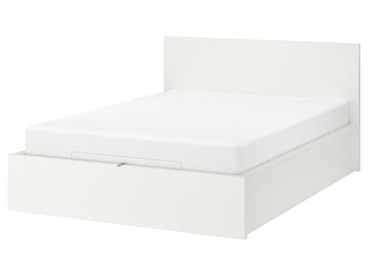 MALM Łóżko z pojemnikiem Łóżko drewniane Kolor Biały Kategoria Łóżka do sypialni