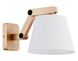 Nowoczesna lampa ścienna JOGA I drewno śr. 32cm