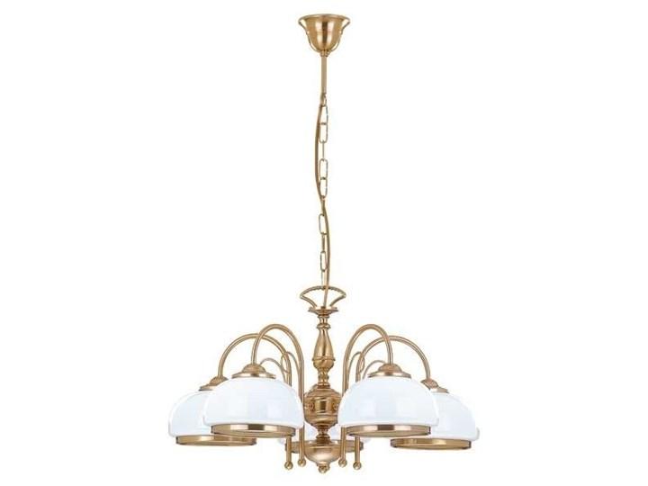 Żyrandol klasyczny PARIS patyna/biały śr. 62cm Szkło Lampa z kloszem Szkło Metal Metal Szkło Metal Metal Szkło