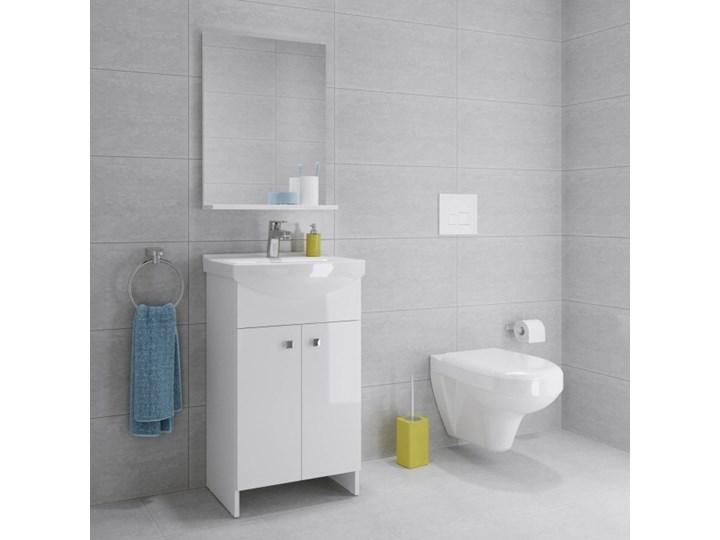 Umywalka meblowa ceramiczna Cersania 55 cm z otworem na armaturę Kategoria Umywalki Meblowe Prostokątne Ceramika Kolor Biały