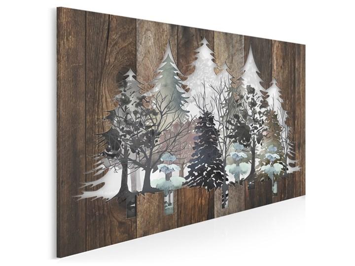 Drzwi do lasu - nowoczesny obraz na płótnie - 120x80 cm