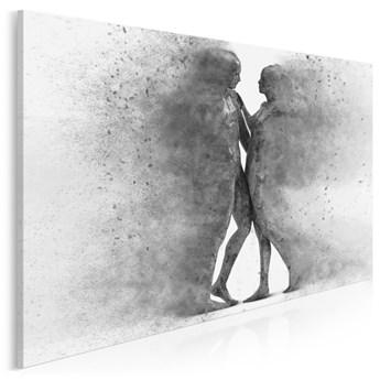 Metafizyka miłości w szarościach - nowoczesny obraz na płótnie - 120x80 cm