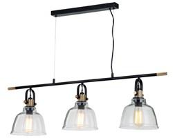 Lampa wisząca CLOE potrójna vintage czarno złota MD8021B-3CL