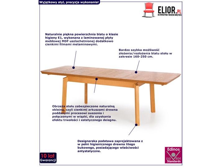 Minimalistyczny stół Tudor - rozkładany Szerokość 160 cm Drewno Długość 160 cm  Styl Klasyczny Wysokość 78 cm Rozkładanie Rozkładane