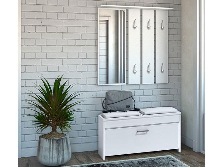 Garderoba z wieszakiem i szafką na buty do przedpokoju Avila - biała Kategoria Zestawy mebli do sypialni Kolor Biały