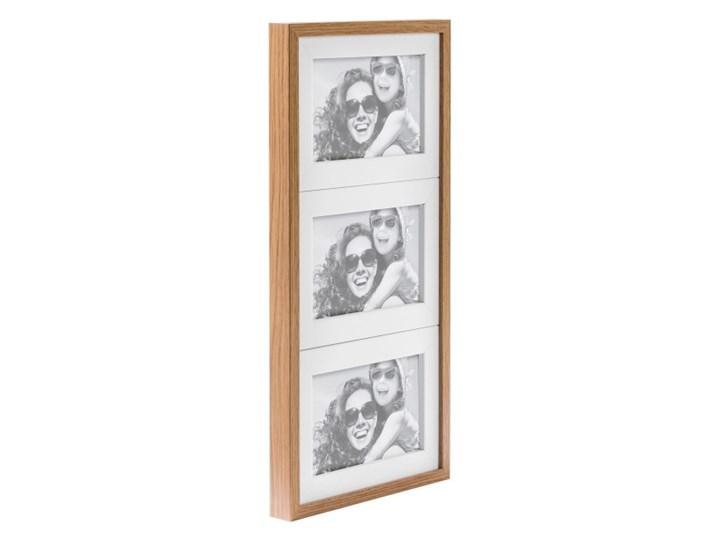 Galeria na zdjęcia Duo 3 x (10 x 15 cm) biała dąb Multiramka Drewno Kolor Biały
