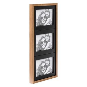 Galeria na zdjęcia Duo 3 x (10 x 15 cm) czarna dąb