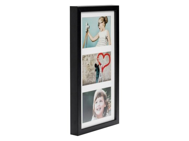 Galeria na zdjęcia Simple 3 x (10 x 15 cm) czarna Drewno Multiramka Rozmiar zdjęcia 10x15 cm