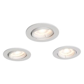 Oczka okrągłe LED Colours Caius GU10 białe 3 szt.