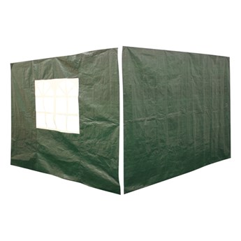 Ścianki do pawilonu 3 x 3 m zielone 2 szt.