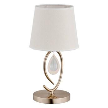 Nowoczesna lampa stojąca stołowa  IZYDA I patyna śr. 20cm