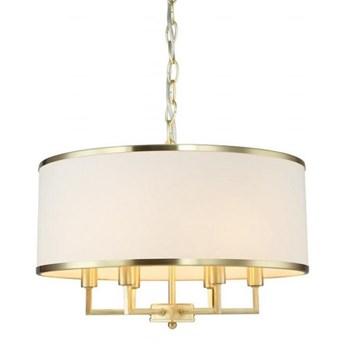 """Lampa wisząca złota abażur kremowy """"Caspian Gold M"""" 6x40w"""