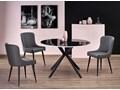 Krzesło tapicerowane Metor - popielate Szerokość 49 cm Wysokość 87 cm Styl Industrialny Tkanina Styl Nowoczesny