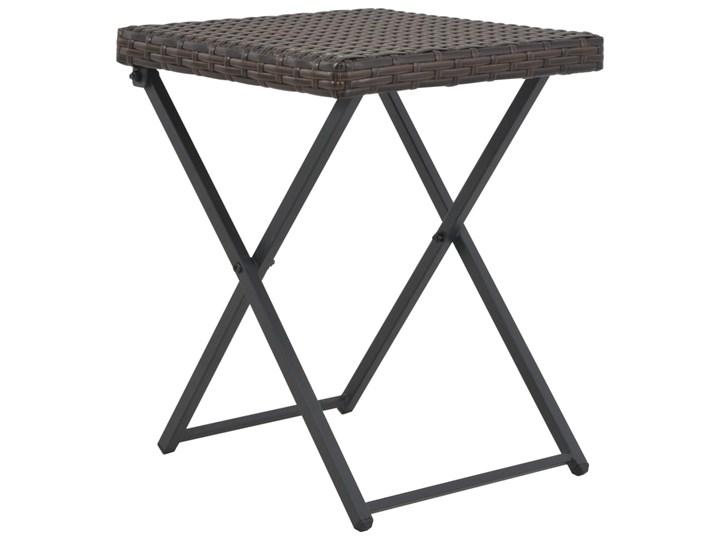 Zestaw składanych mebli ogrodowych Lanac - brązowy Stoły z krzesłami Kolor Czarny
