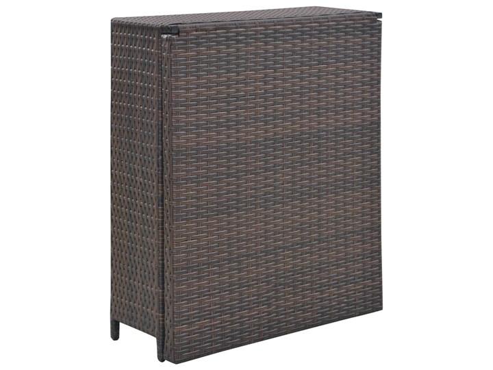 Zestaw składanych mebli ogrodowych Lanac - brązowy Kolor Czarny Stoły z krzesłami Kategoria Zestawy mebli ogrodowych