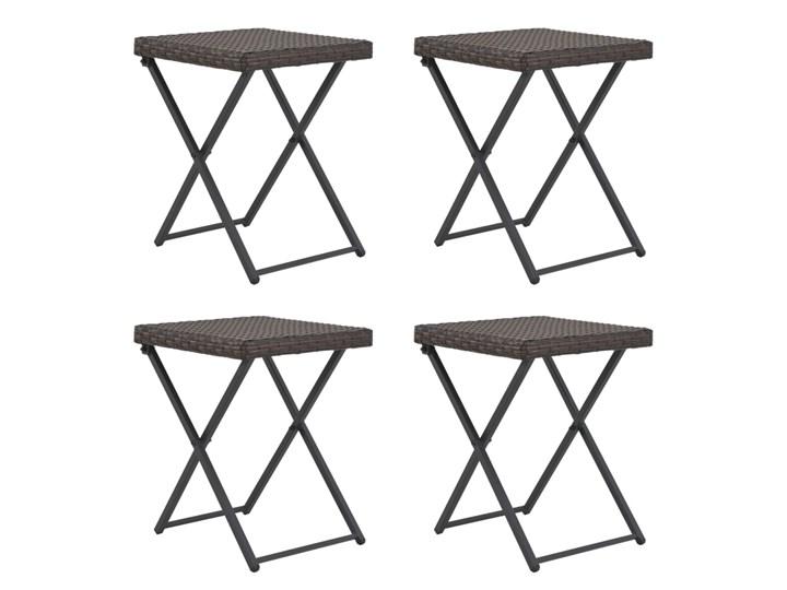 Zestaw składanych mebli ogrodowych Lanac - brązowy Kategoria Zestawy mebli ogrodowych Stoły z krzesłami Kolor Czarny