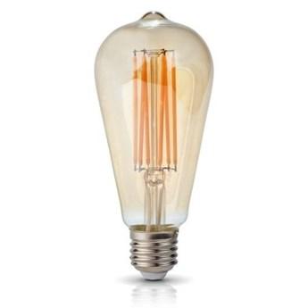 Żarówka FILAMENT LED E27 7W ciepła 2700K łezka ST64
