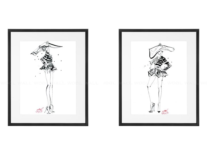 "Zestaw 2x ""Fashion illustrations collection"" A3 II"