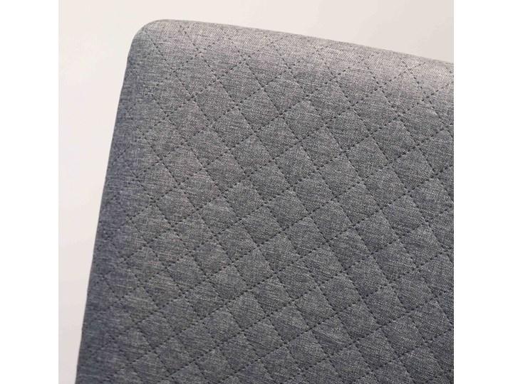 GRIM krzesło drewniane czarna rama, jasno-szara pikowana tkanina Szerokość 42 cm Głębokość 41 cm Drewno Wysokość 86 cm Głębokość 38 cm Pikowane Tapicerowane Kategoria Krzesła kuchenne