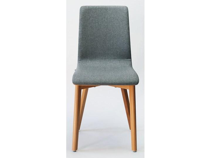 LUKA SOFT W krzesło bukowe, jasno szara tkanina 07