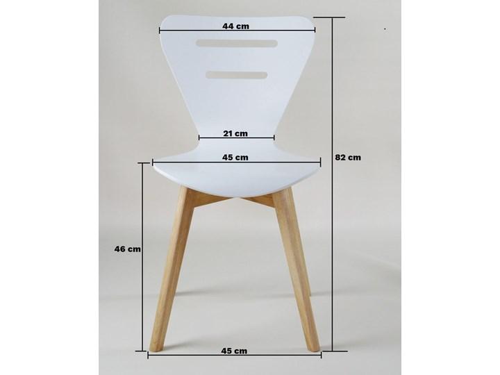DORIS W krzesło drewniane białe, dębowa rama Styl Nowoczesny Głębokość 40 cm Głębokość 43 cm Wysokość 82 cm Szerokość 43 cm Drewno Pomieszczenie Jadalnia