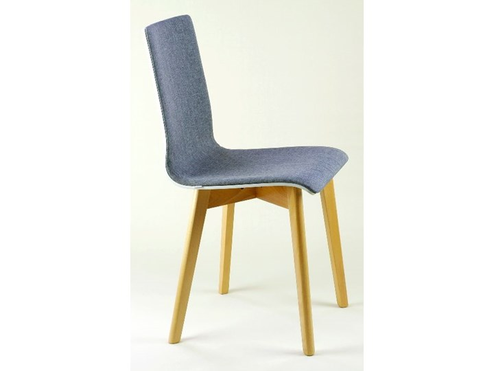 LUKA SOFT W krzesło drewniane biało-szare, bukowa rama Głębokość 41 cm Drewno Pikowane Tkanina Szerokość 40 cm Głębokość 40 cm Wysokość 87 cm Tapicerowane Płyta MDF Styl Klasyczny
