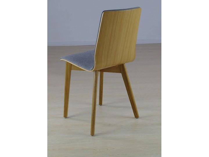 LUKA SOFT W krzesło dębowe, tkanina Lt.grey Płyta MDF Drewno Głębokość 40 cm Szerokość 40 cm Tapicerowane Wysokość 87 cm Głębokość 41 cm Kategoria Krzesła kuchenne Pomieszczenie Jadalnia