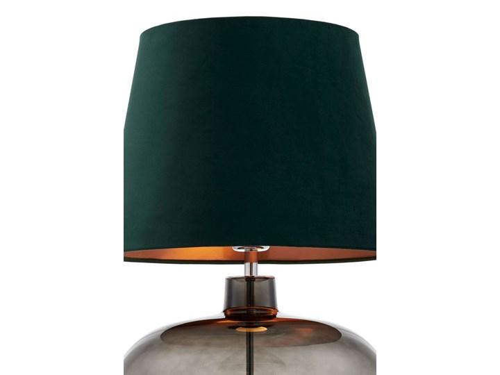 Lampa stołowa Sawa Velvet Zielona, Kaspa Wysokość 55 cm Lampa z abażurem Lampa z kloszem Styl Skandynawski