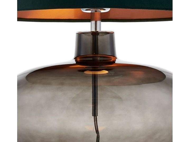 Lampa stołowa Sawa Velvet Zielona, Kaspa Lampa z kloszem Wysokość 55 cm Lampa z abażurem Styl Skandynawski