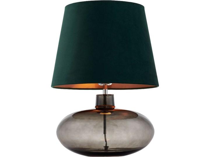 Lampa stołowa Sawa Velvet Zielona, Kaspa Wysokość 55 cm Lampa z abażurem Lampa z kloszem Styl Skandynawski Kolor Zielony
