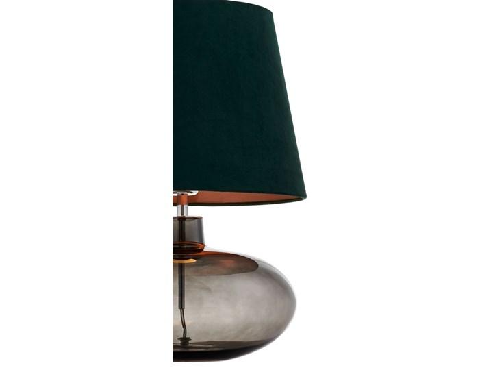 Lampa stołowa Sawa Velvet Zielona, Kaspa Styl Skandynawski Lampa z kloszem Wysokość 55 cm Lampa z abażurem Kolor Zielony