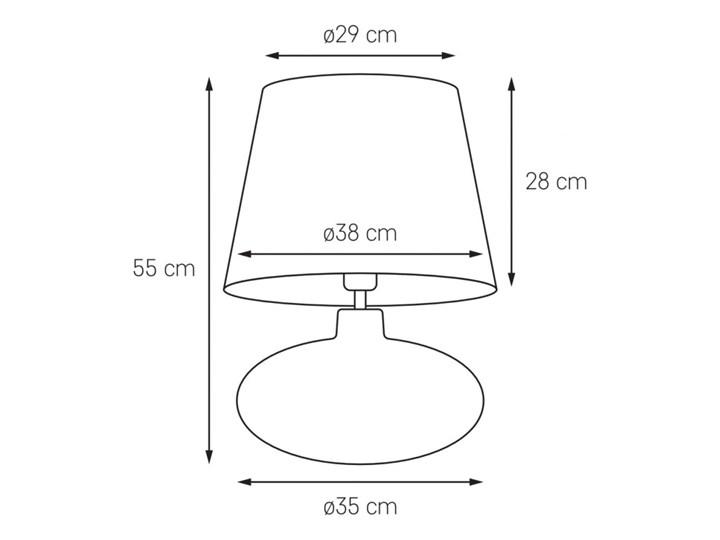 Lampa stołowa Sawa Velvet Zielona, Kaspa Lampa z abażurem Lampa z kloszem Wysokość 55 cm Kolor Zielony