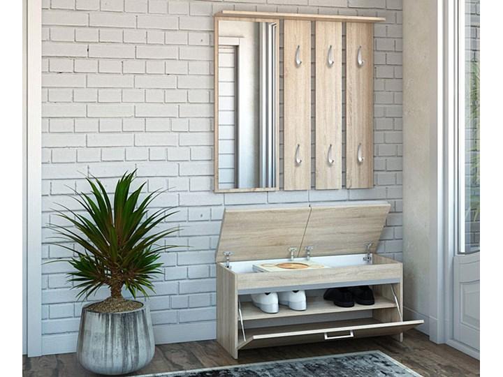 Garderoba z lustrem i szafką na buty Avila - dąb sonoma Kategoria Zestawy mebli do sypialni