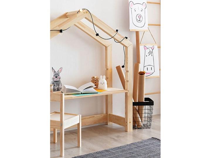 Drewniane biurko dziecięce domek Rosie 2X Drewno Głębokość 40 cm Kategoria Biurka Szerokość 111 cm Kolor Beżowy