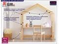 drewniane biurko dziecięce domek rosie 2x Drewno Drewno Drewno
