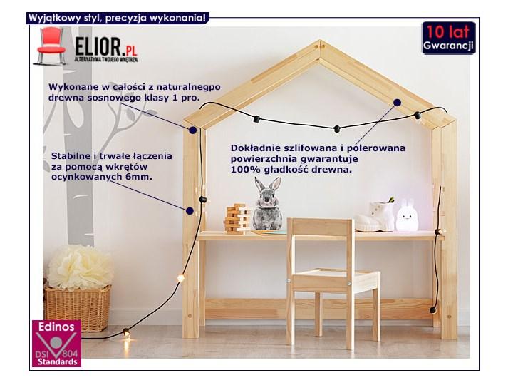 Drewniane biurko dziecięce domek Rosie 2X Głębokość 40 cm Szerokość 111 cm Drewno Kolor Beżowy