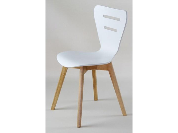 DORIS W krzesło drewniane białe, dębowa rama