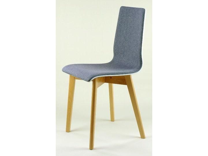 LUKA SOFT W krzesło drewniane biało-szare, bukowa rama Głębokość 40 cm Głębokość 41 cm Wysokość 87 cm Pikowane Drewno Tkanina Szerokość 40 cm Tapicerowane Płyta MDF Styl Klasyczny