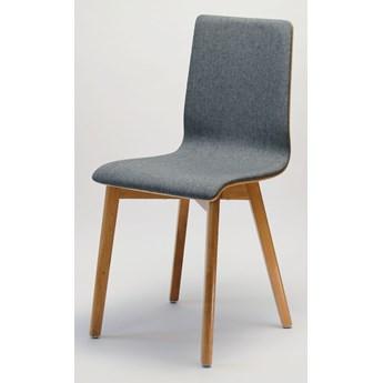 LUKA SOFT W krzesło dębowe, tkanina Dk.grey14
