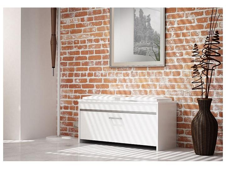 Szafka na buty z siedziskiem Leni 3X - biała Kolor Biały Płyta MDF Ilość szuflad Bez szuflad